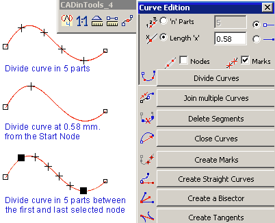 Curve edition tool